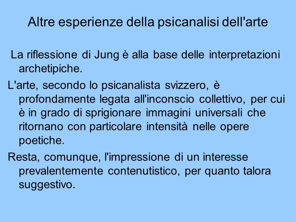 Altre esperienze della psicanalisi dell arte