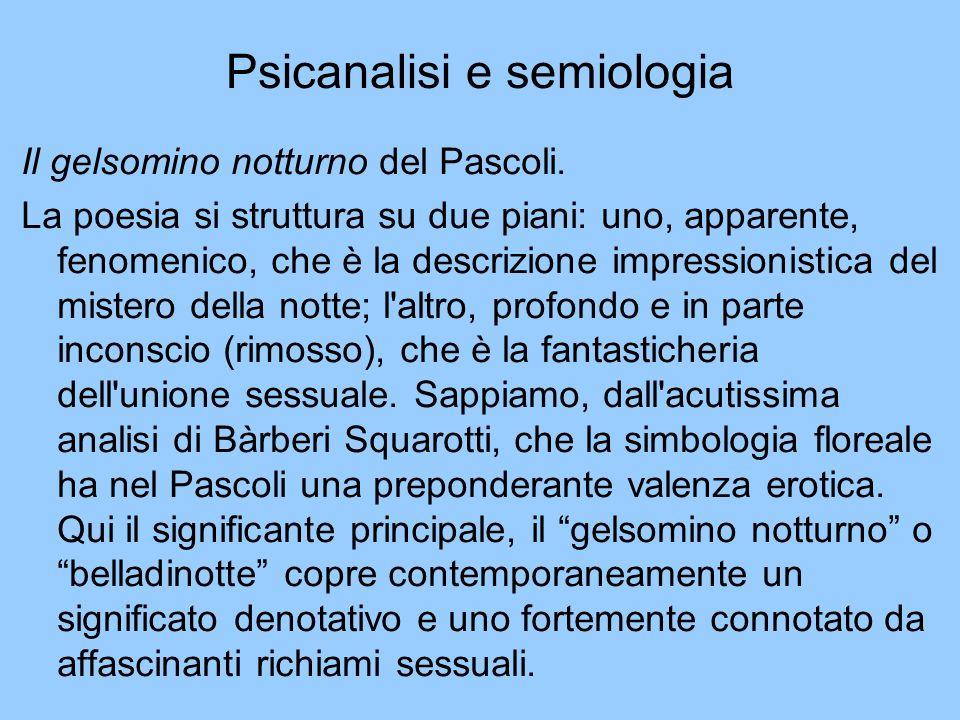 Psicanalisi e semiologia