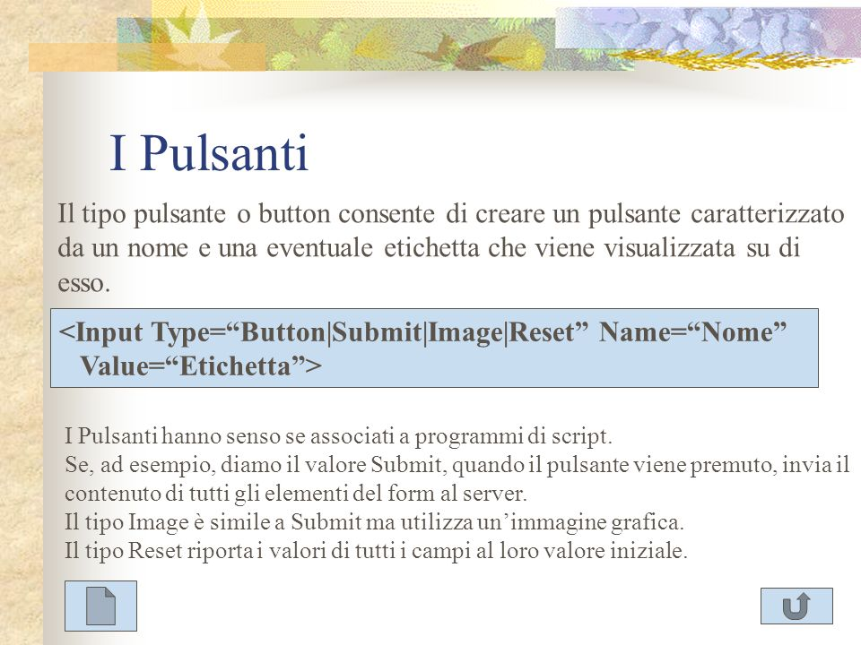 I Pulsanti
