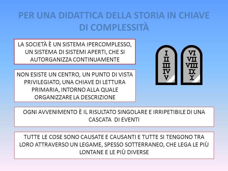 PER UNA DIDATTICA DELLA STORIA IN CHIAVE DI COMPLESSITÀ