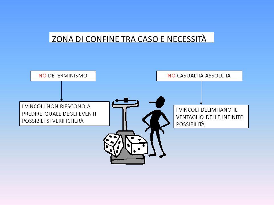ZONA DI CONFINE TRA CASO E NECESSITÀ