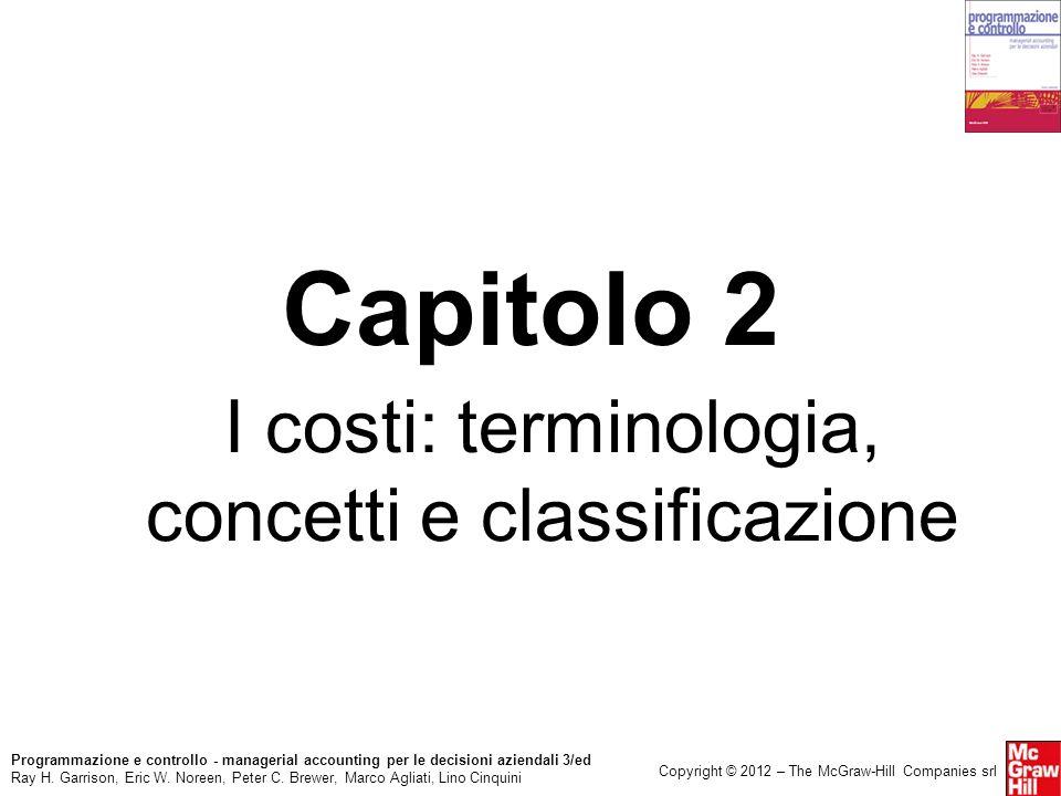 I costi: terminologia, concetti e classificazione