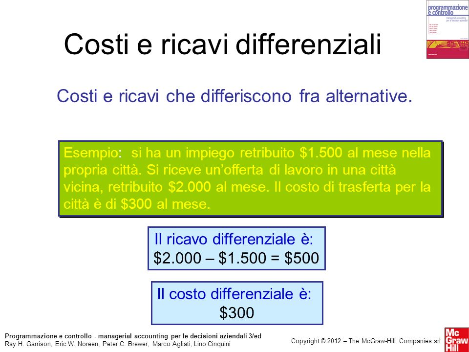 Costi e ricavi differenziali