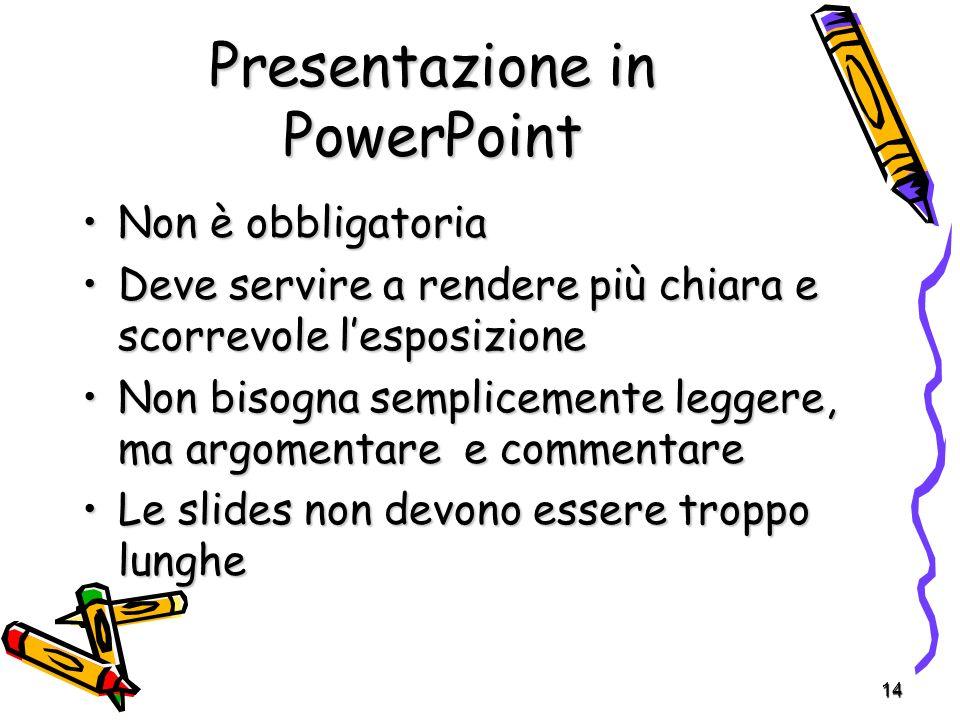 Presentazione in PowerPoint