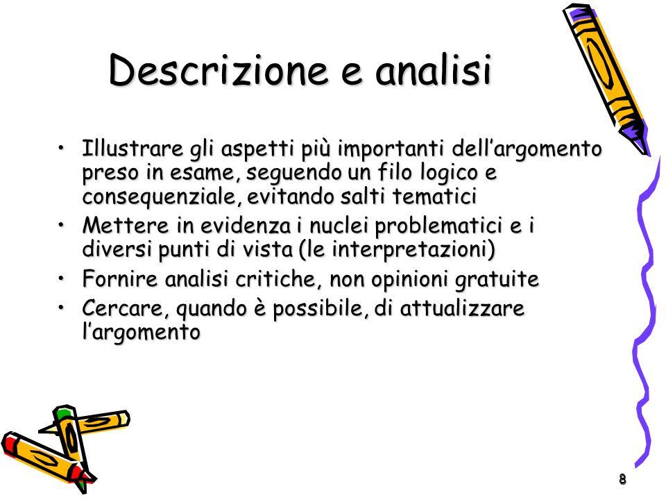 Descrizione e analisi