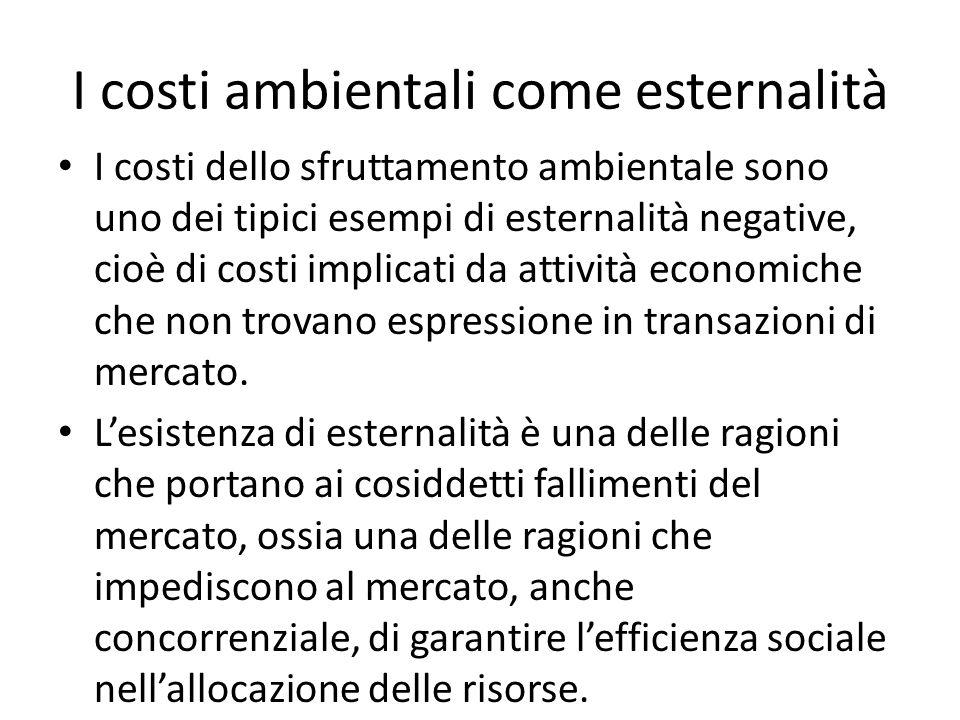I costi ambientali come esternalità