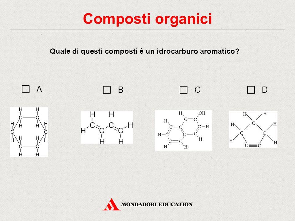 Quale di questi composti è un idrocarburo aromatico