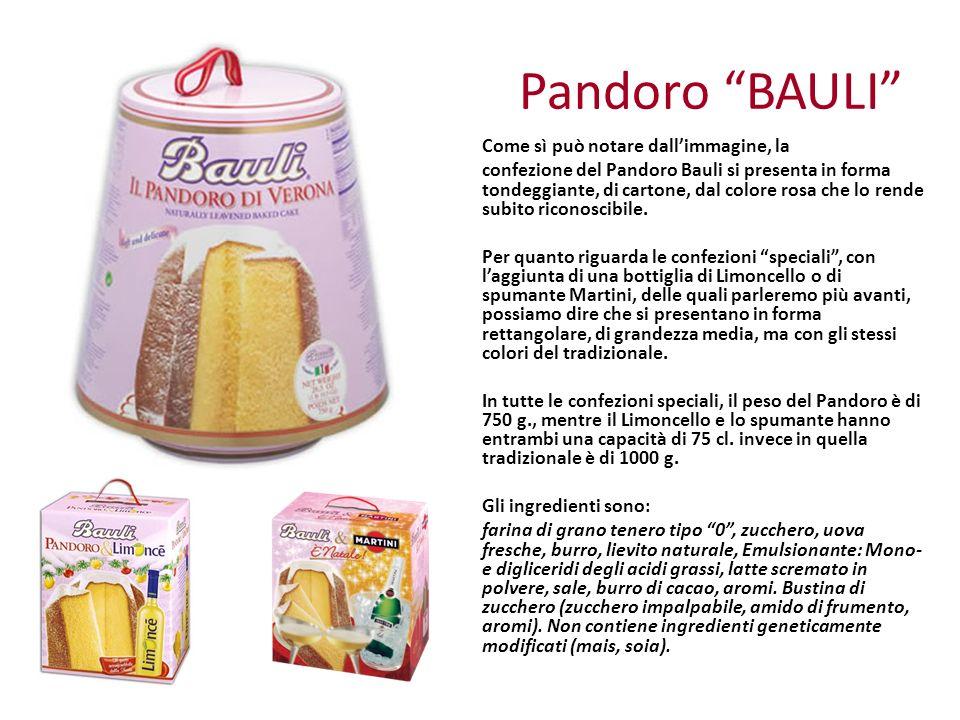 Pandoro BAULI Come sì può notare dall'immagine, la