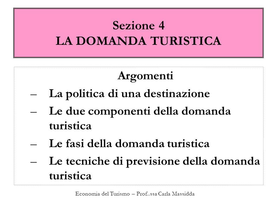 Sezione 4 LA DOMANDA TURISTICA
