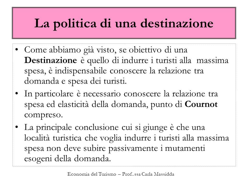 La politica di una destinazione