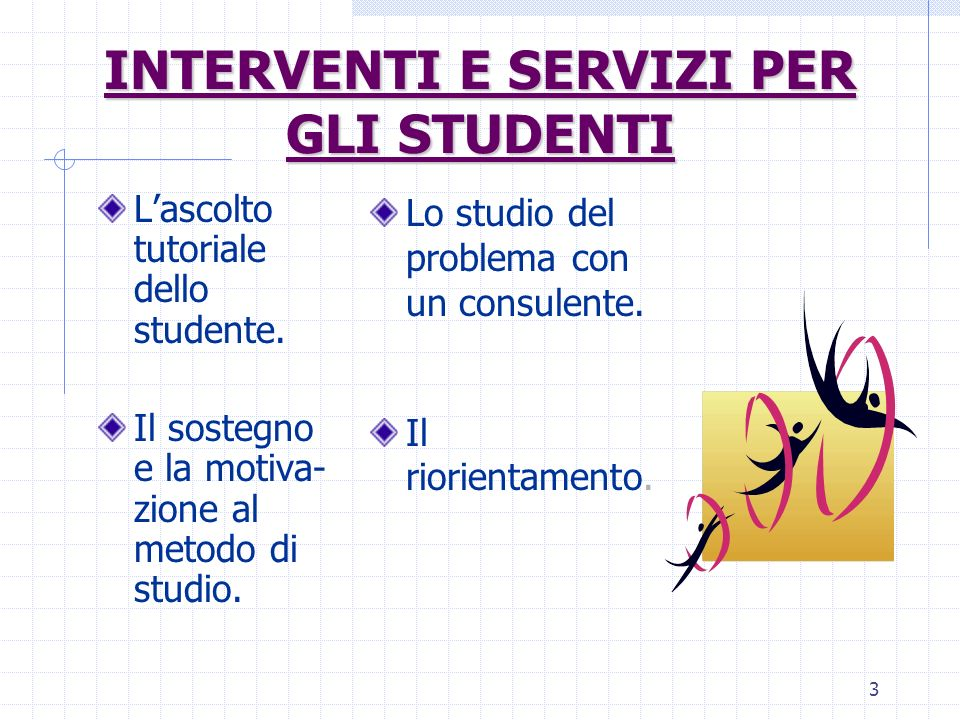 INTERVENTI E SERVIZI PER GLI STUDENTI