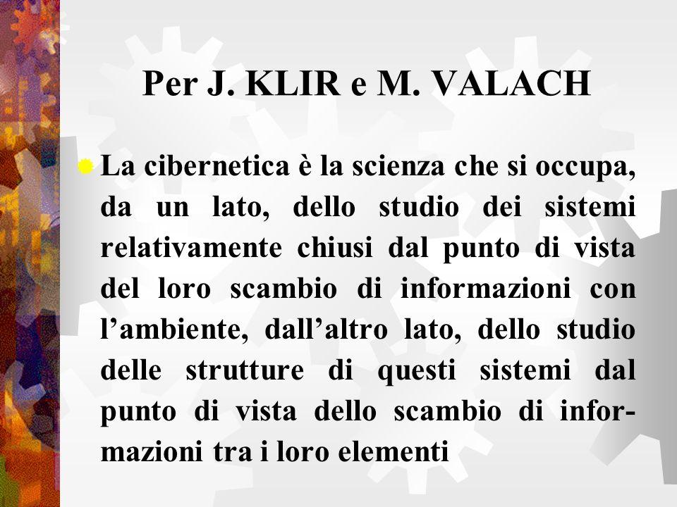Per J. KLIR e M. VALACH