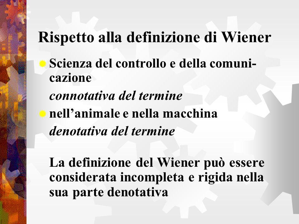 Rispetto alla definizione di Wiener