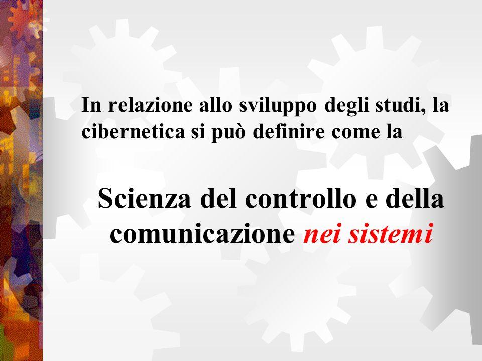 Scienza del controllo e della comunicazione nei sistemi