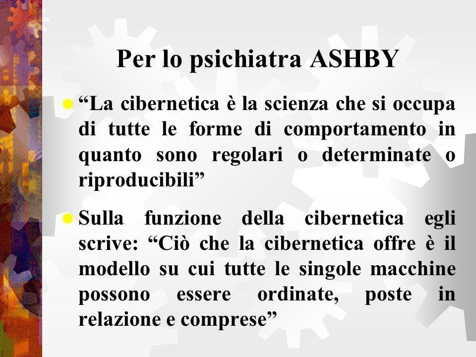 Per lo psichiatra ASHBY