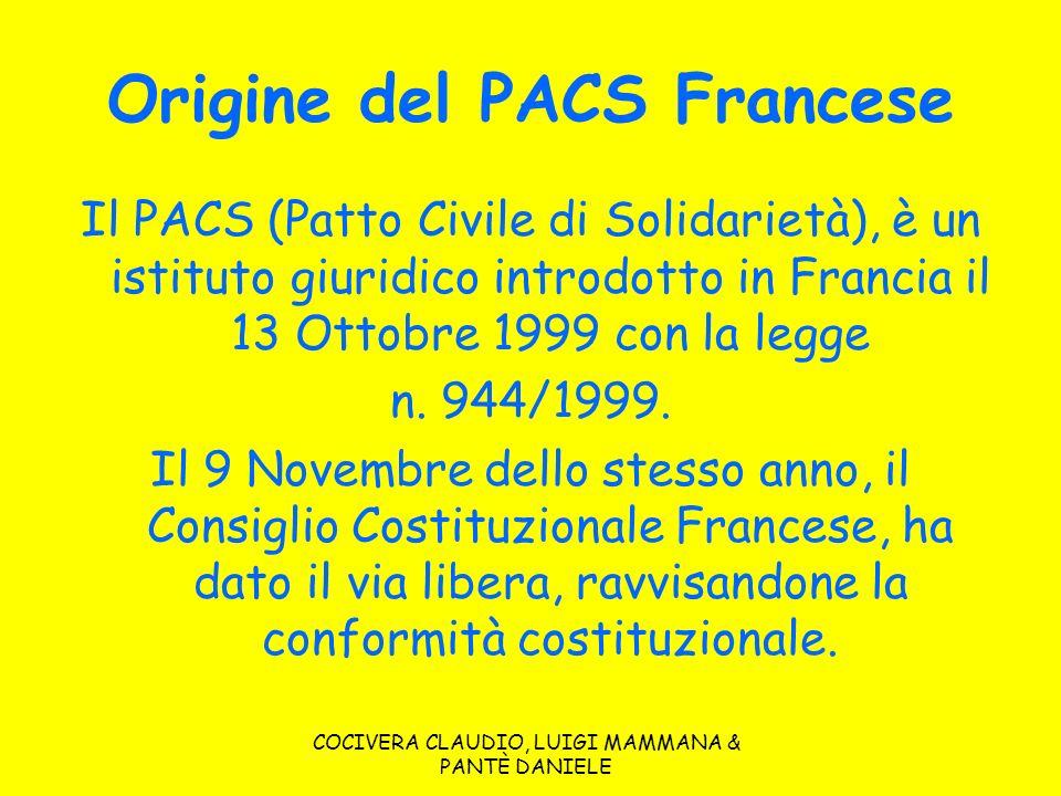Origine del PACS Francese