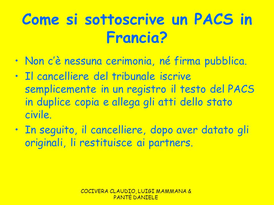 Come si sottoscrive un PACS in Francia
