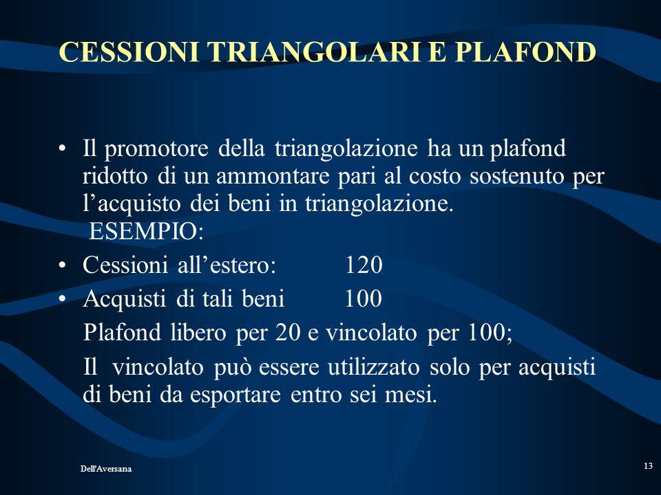 CESSIONI TRIANGOLARI E PLAFOND