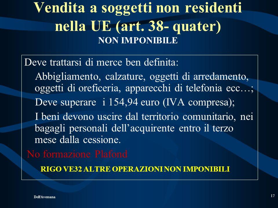 Vendita a soggetti non residenti nella UE (art