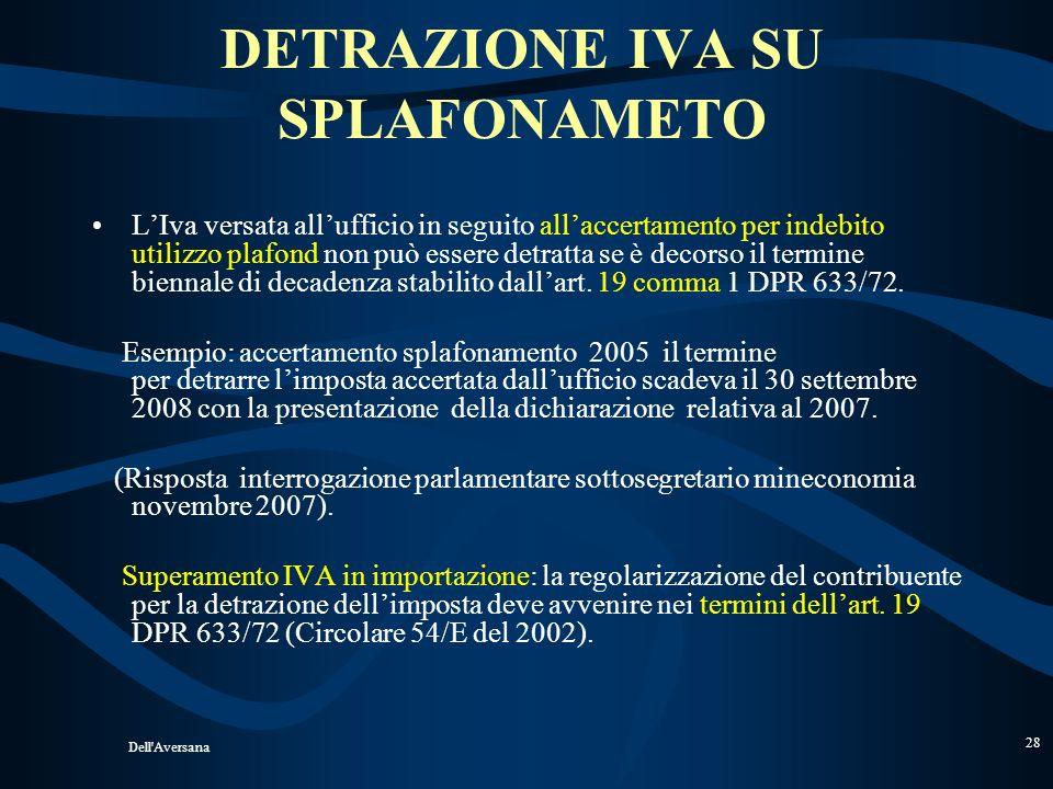 DETRAZIONE IVA SU SPLAFONAMETO
