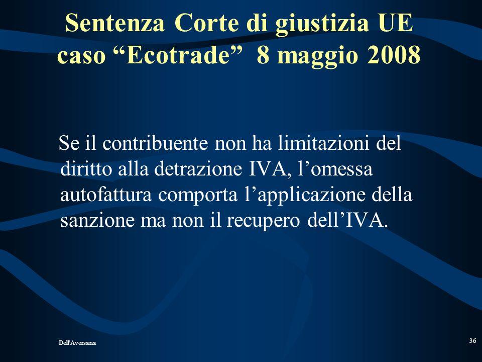 Sentenza Corte di giustizia UE caso Ecotrade 8 maggio 2008