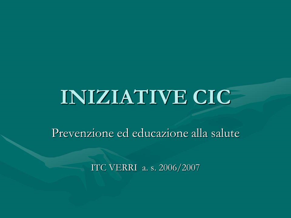 Prevenzione ed educazione alla salute ITC VERRI a. s. 2006/2007