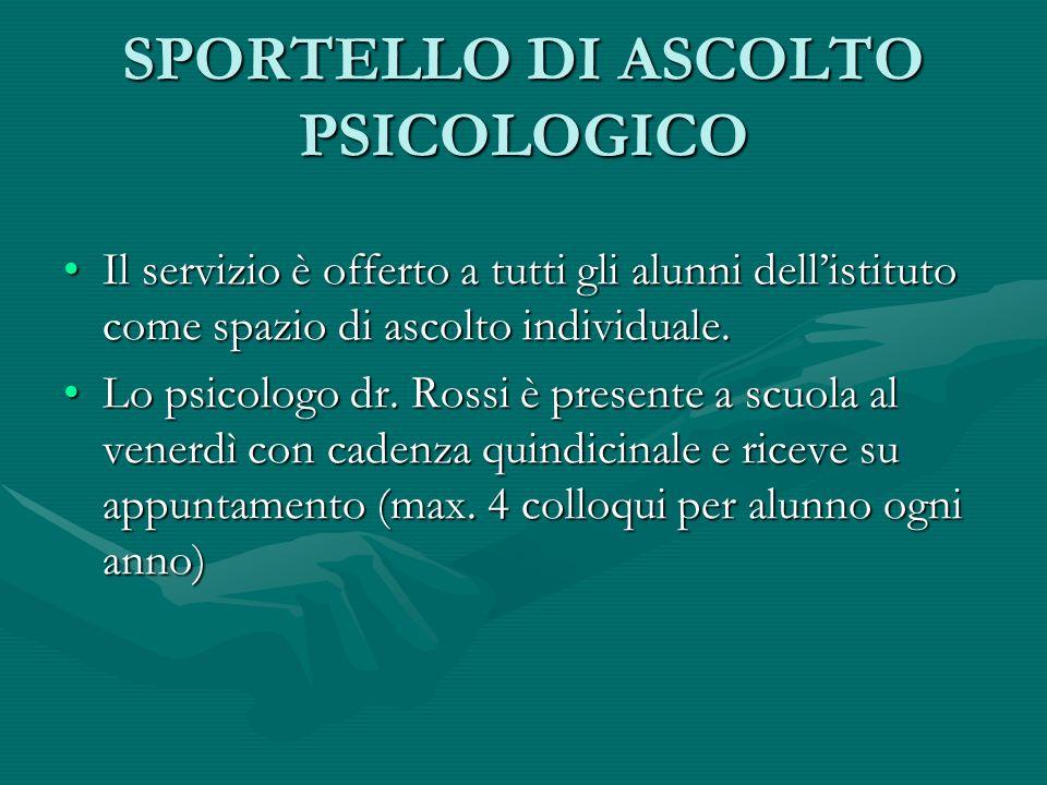 SPORTELLO DI ASCOLTO PSICOLOGICO