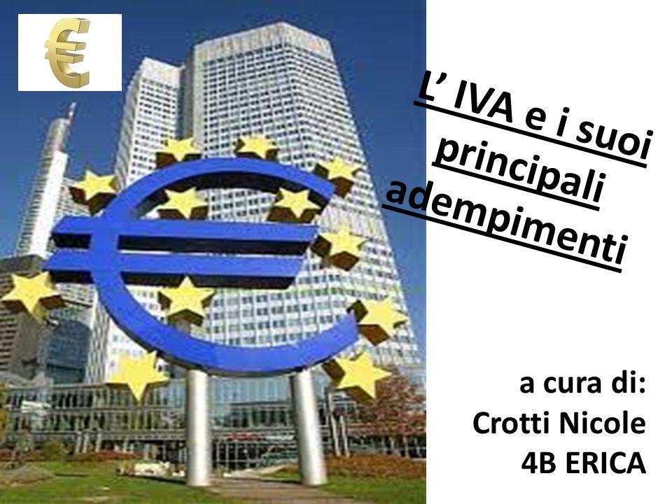 L' IVA e i suoi principali adempimenti