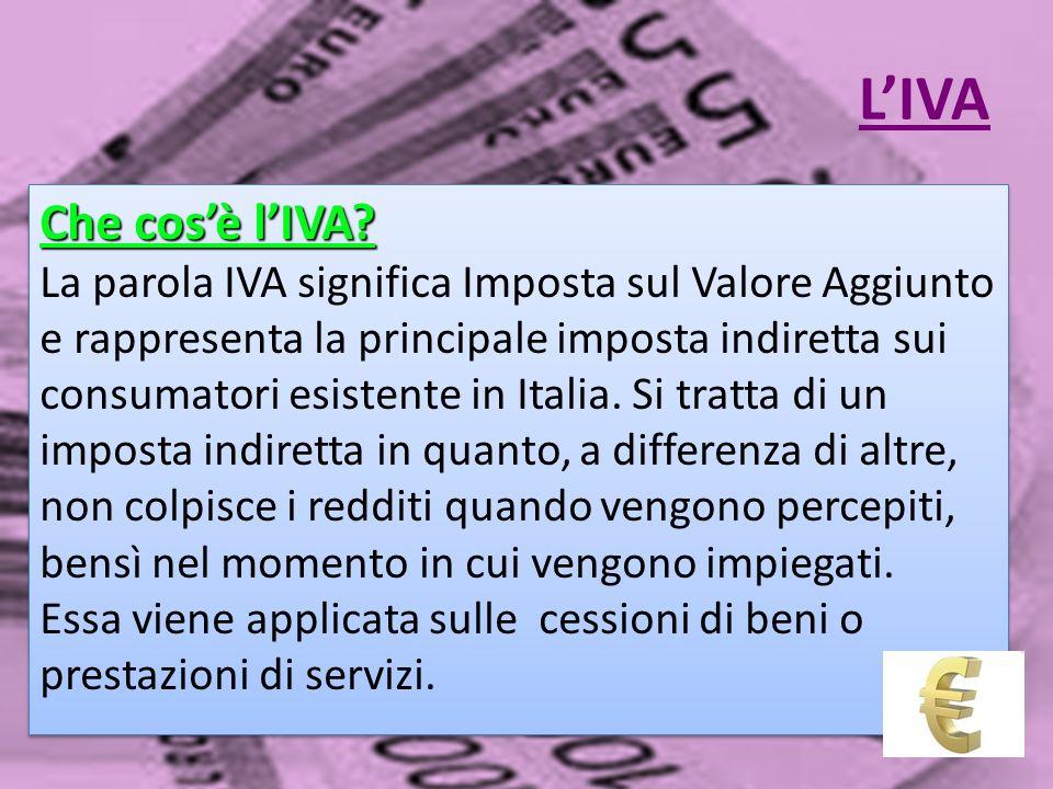 L'IVA Che cos'è l'IVA