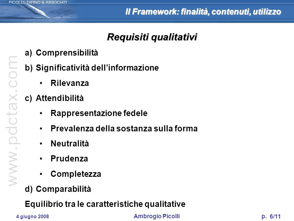 Requisiti qualitativi