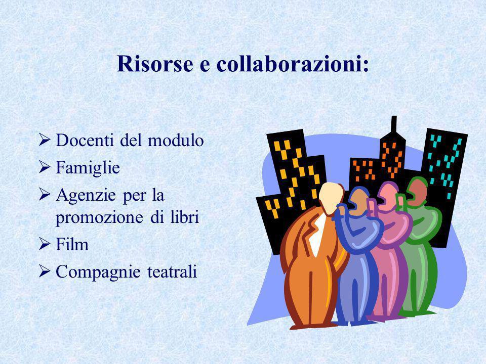 Risorse e collaborazioni: