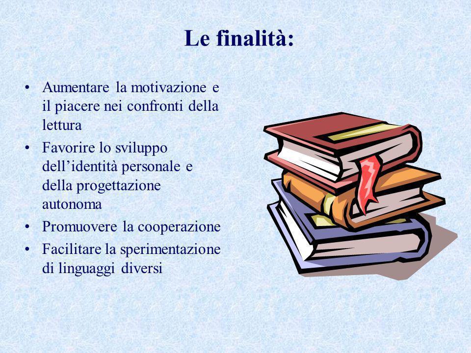 Le finalità: Aumentare la motivazione e il piacere nei confronti della lettura.