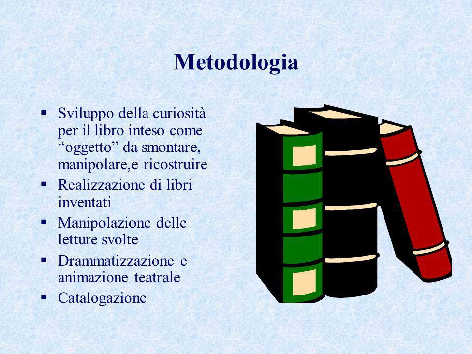 Metodologia Sviluppo della curiosità per il libro inteso come oggetto da smontare, manipolare,e ricostruire.