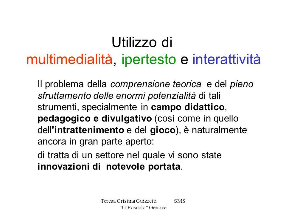 Utilizzo di multimedialità, ipertesto e interattività