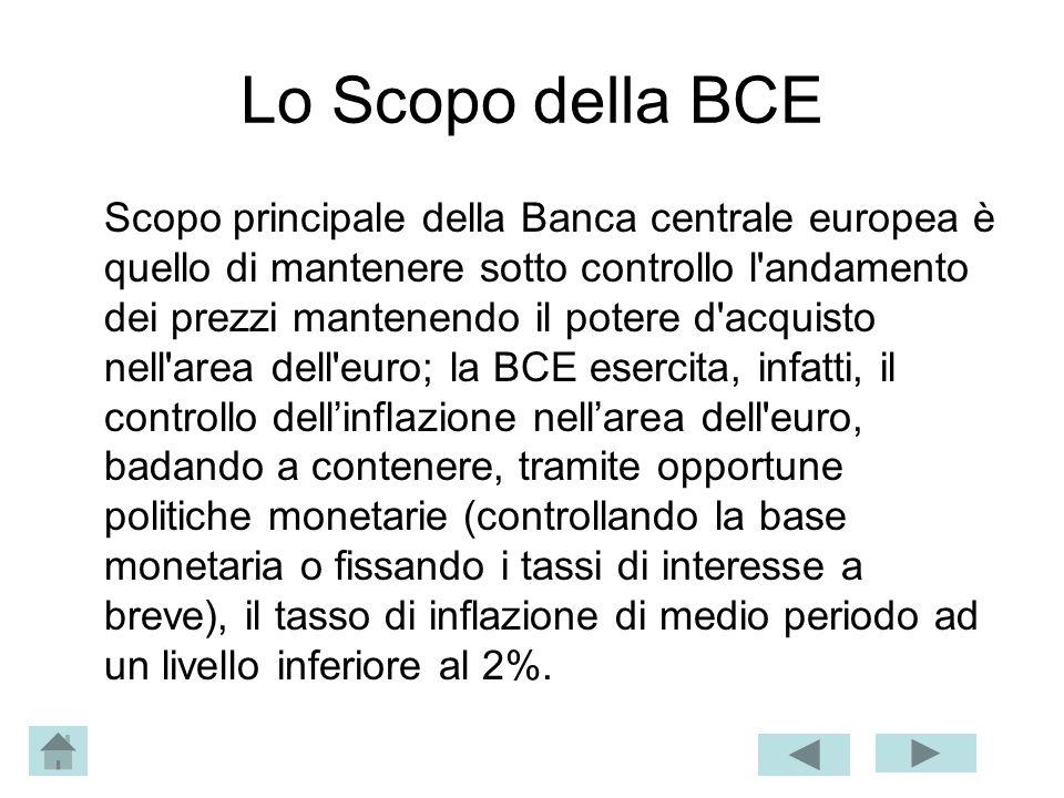 Lo Scopo della BCE