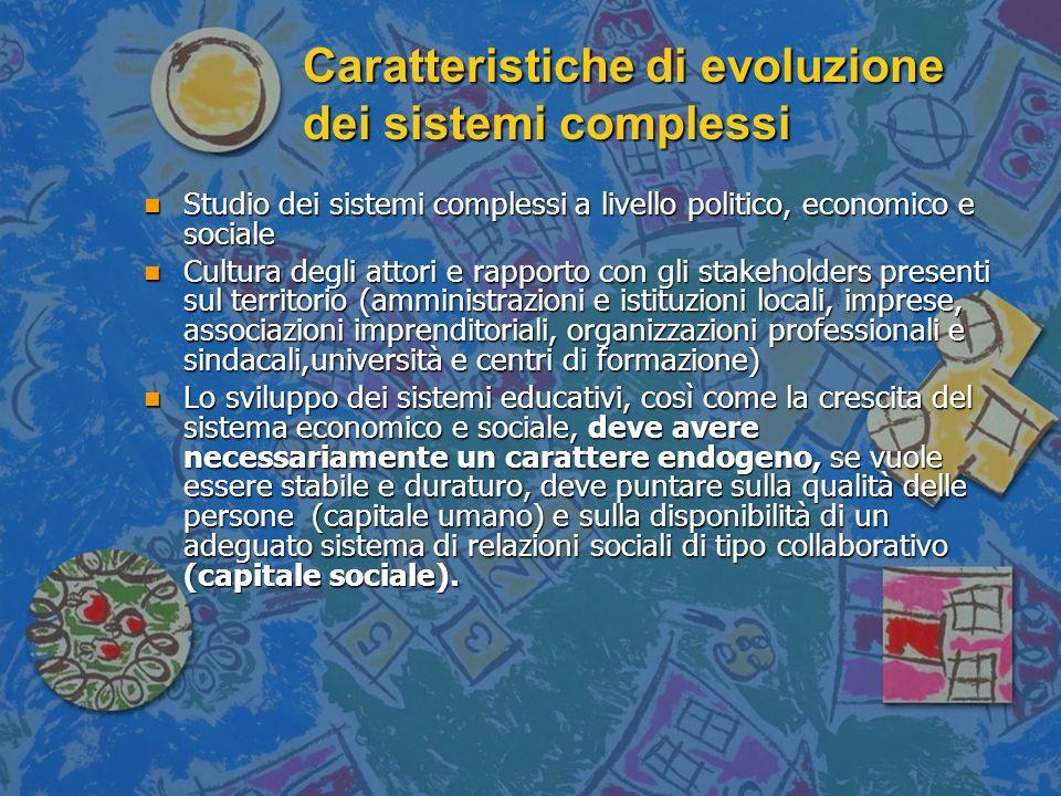 Caratteristiche di evoluzione dei sistemi complessi