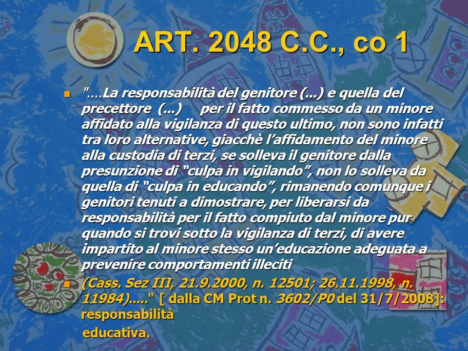 ART. 2048 C.C., co 1