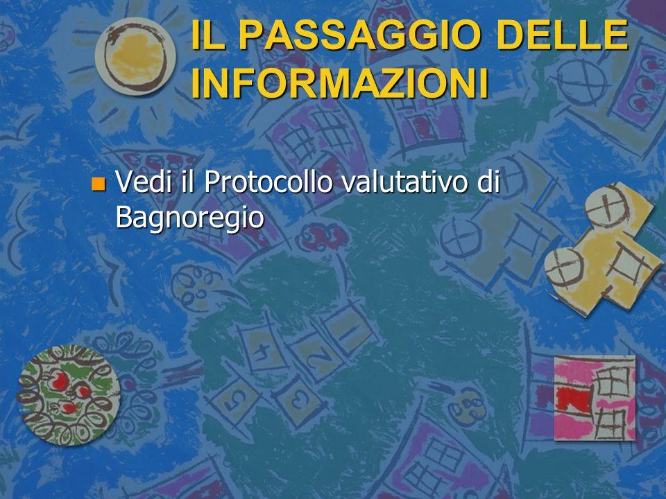IL PASSAGGIO DELLE INFORMAZIONI