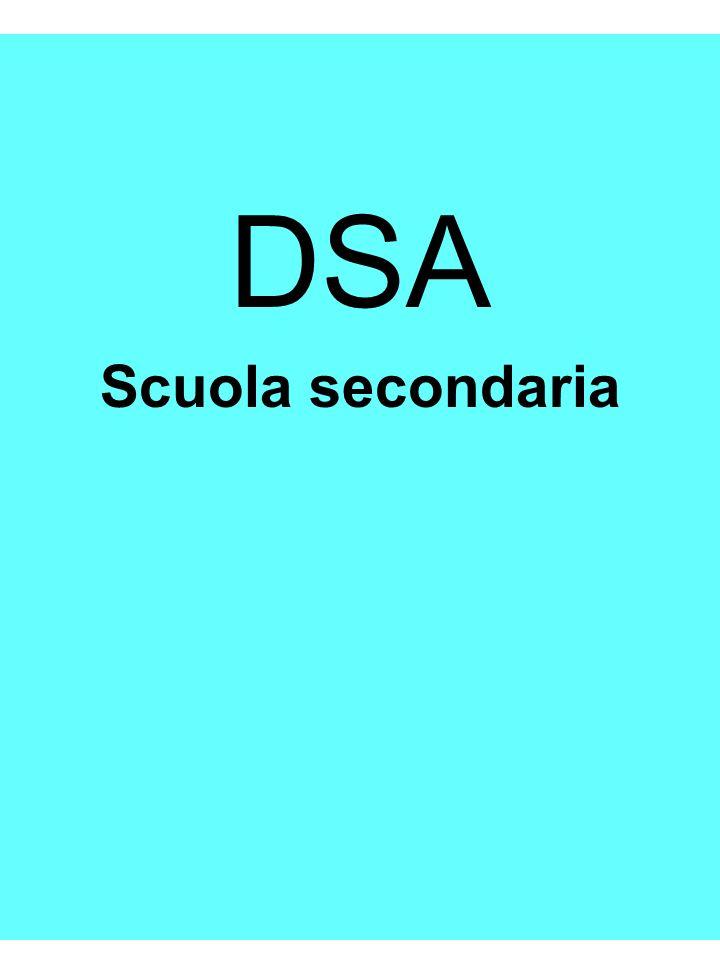 DSA Scuola secondaria Riccarda Dell Oro