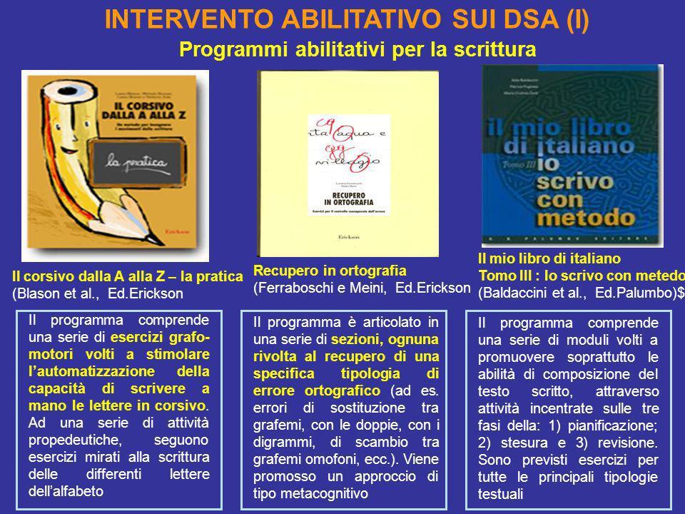 INTERVENTO ABILITATIVO SUI DSA (I)