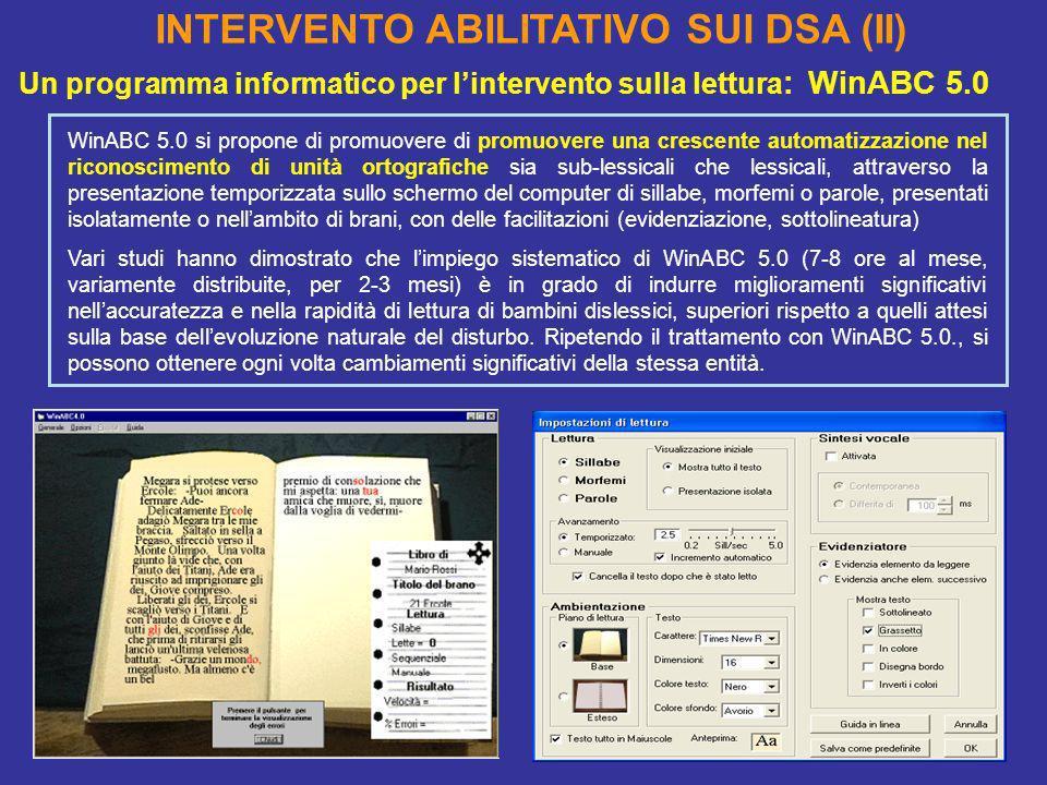 INTERVENTO ABILITATIVO SUI DSA (II)