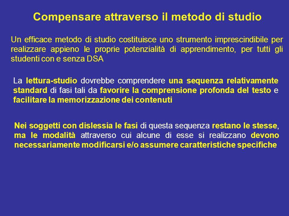 Compensare attraverso il metodo di studio