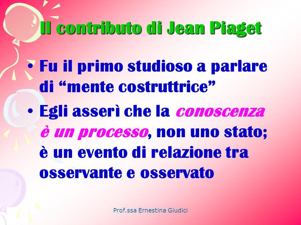 Il contributo di Jean Piaget