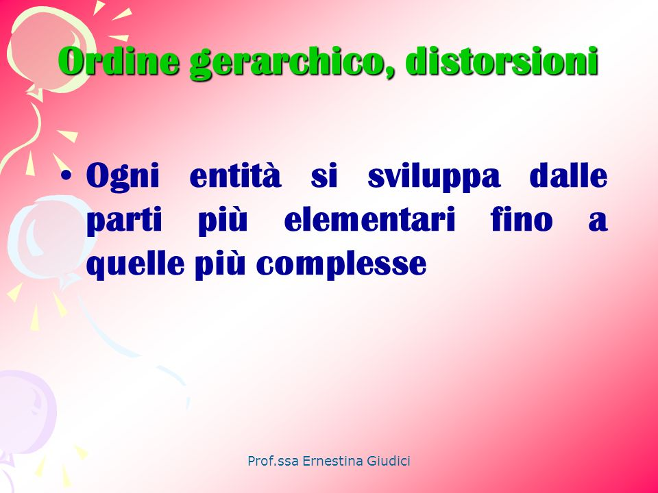 Ordine gerarchico, distorsioni