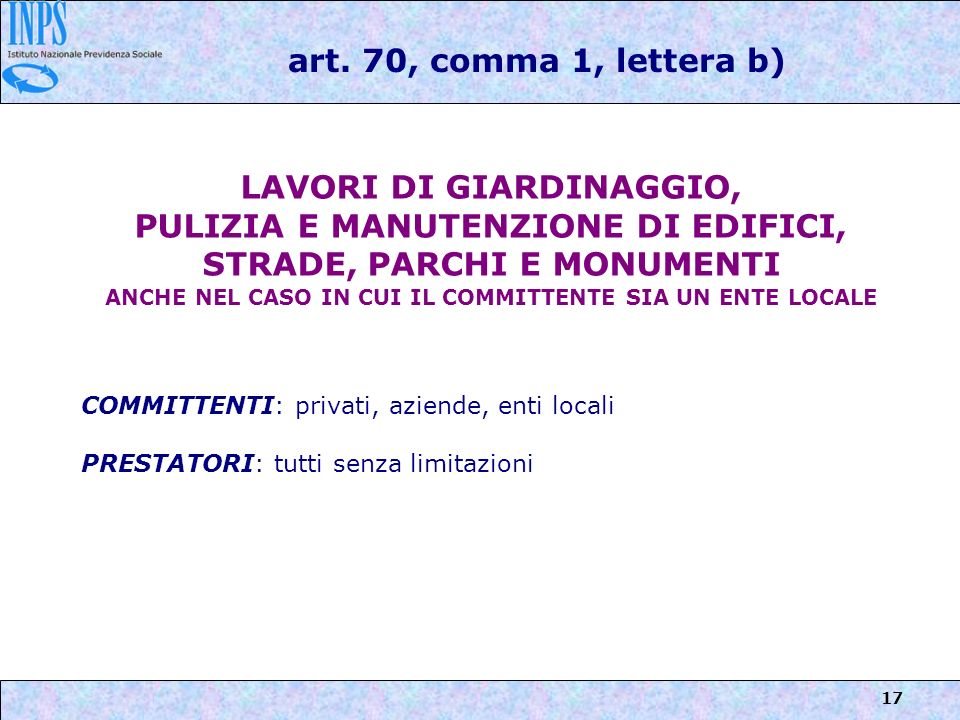 LAVORI DI GIARDINAGGIO,