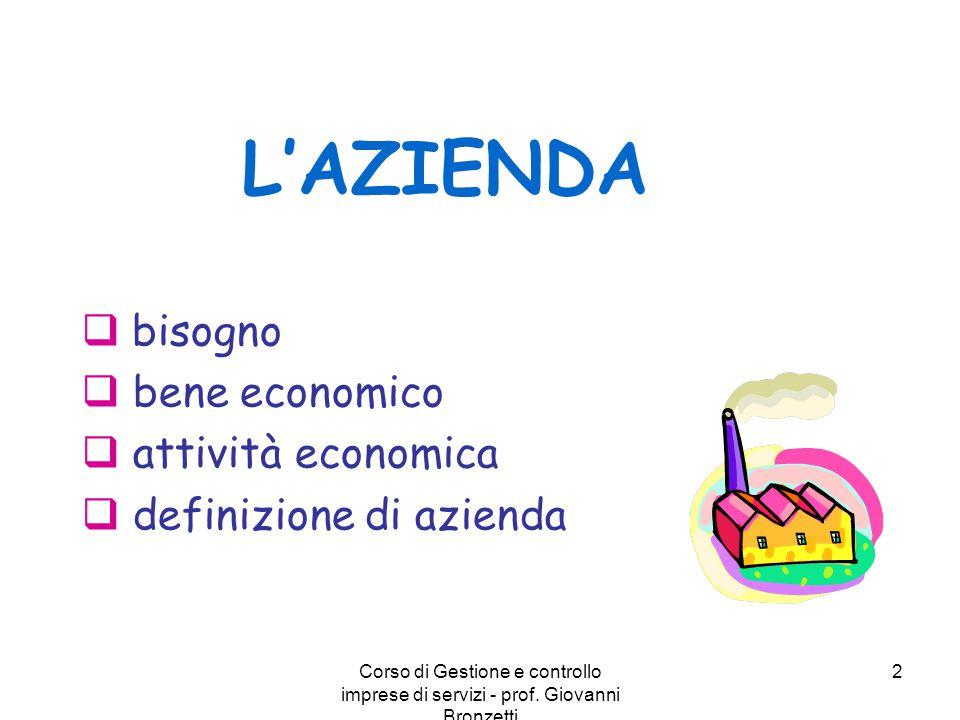 bisogno bene economico attività economica definizione di azienda