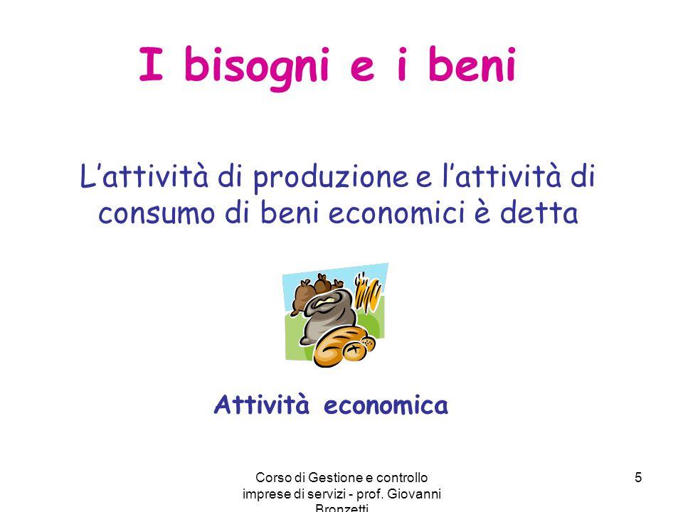I bisogni e i beni L'attività di produzione e l'attività di consumo di beni economici è detta. Attività economica.