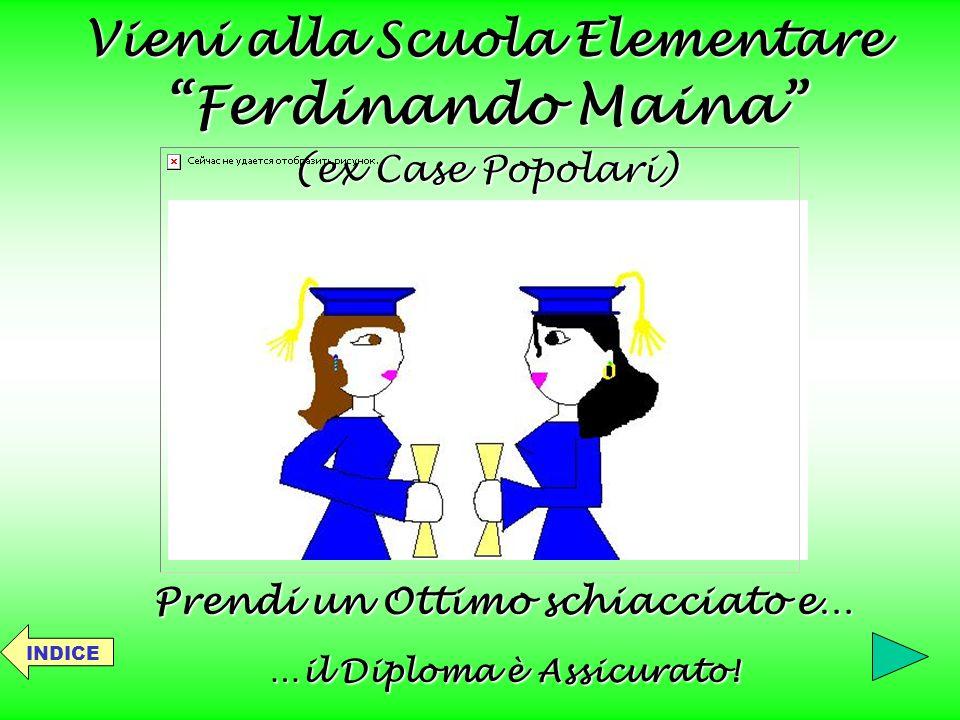 Vieni alla Scuola Elementare …il Diploma è Assicurato!