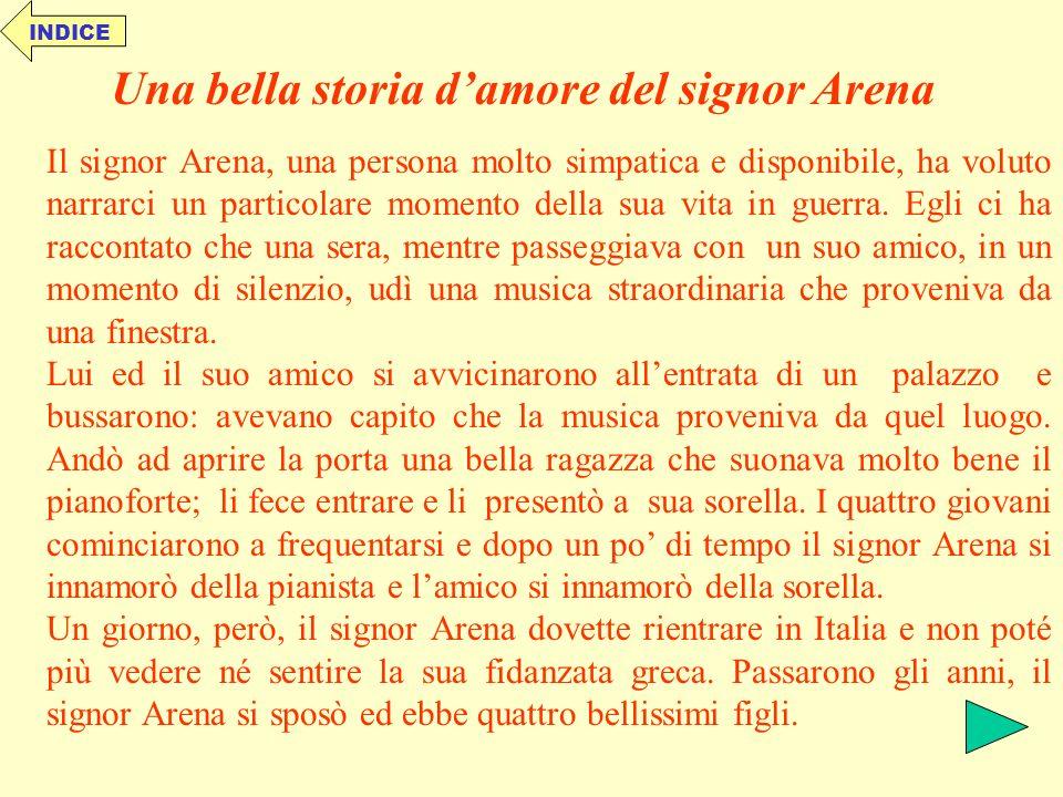 Una bella storia d'amore del signor Arena