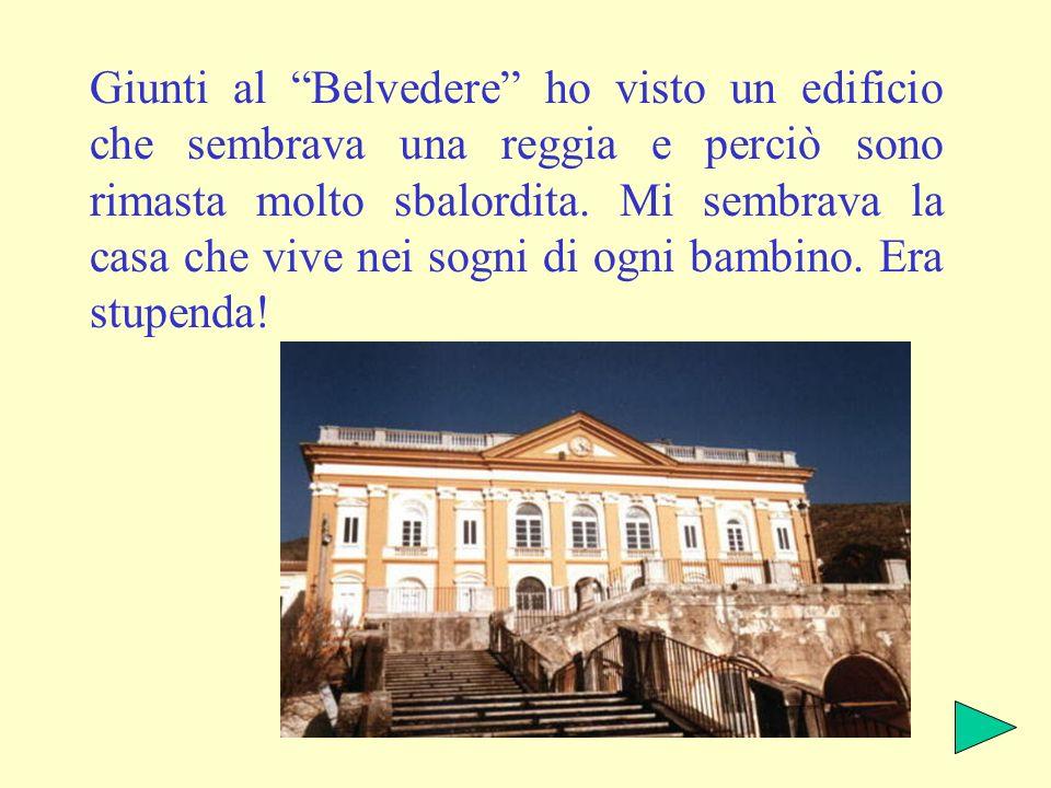 Giunti al Belvedere ho visto un edificio che sembrava una reggia e perciò sono rimasta molto sbalordita.